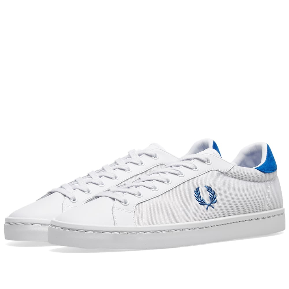Photo: Fred Perry Lawn Leather Mesh Sneaker