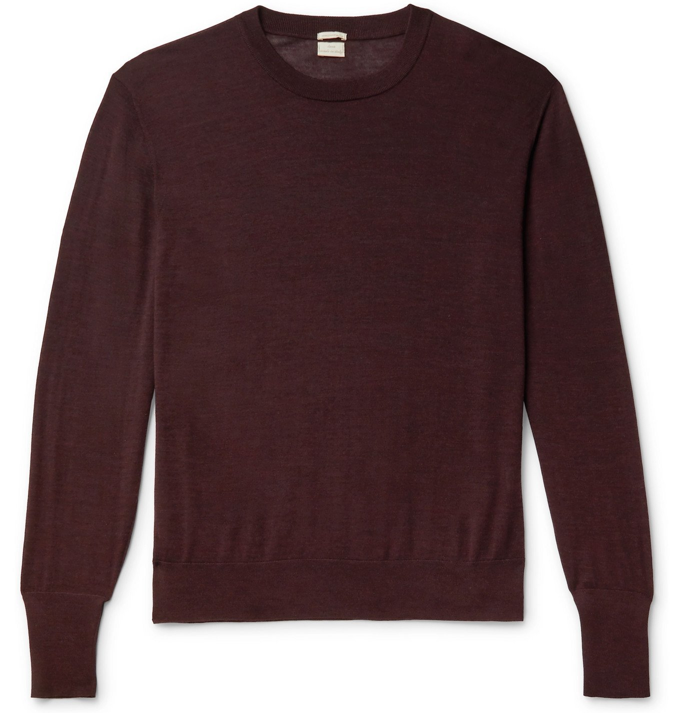 Photo: Massimo Alba - Mélange Merino Wool Sweater - Burgundy