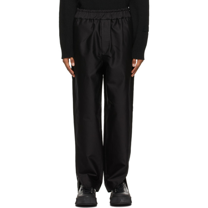Photo: Jil Sander Black Cotton Satin Trousers