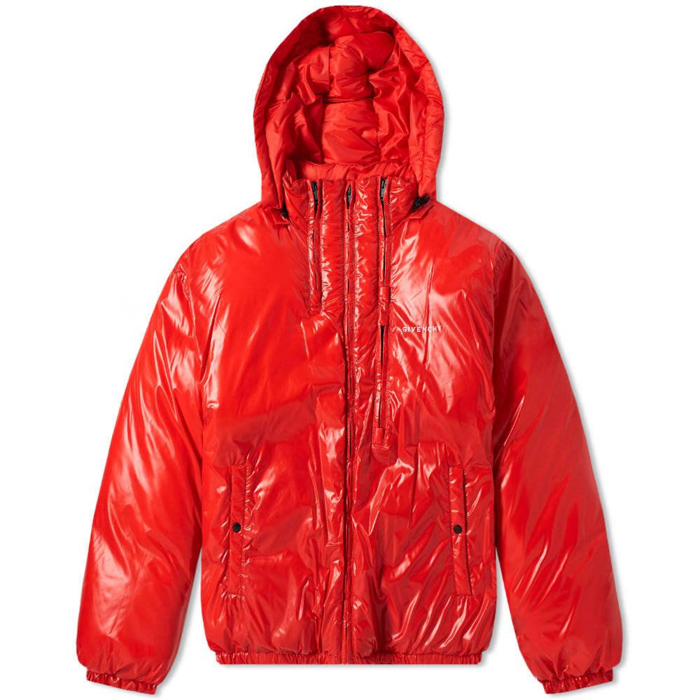 Photo: Givenchy Light Nylon Logo Down Jacket Red