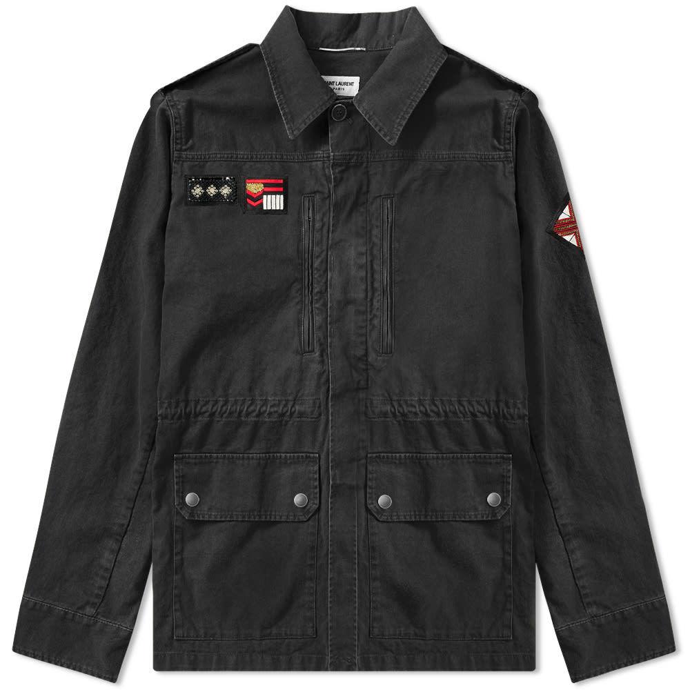 Photo: Saint Laurent Patch Military Jacket