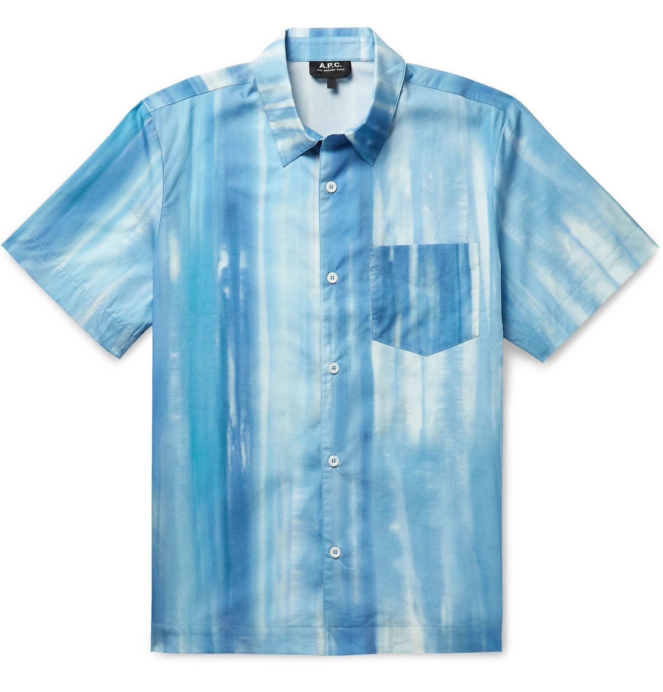 Photo: A.P.C. - Joseph Tie-Dyed Cotton-Poplin Shirt - Blue