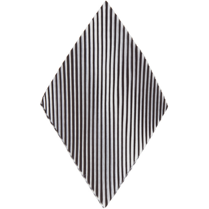 Photo: Homme Plisse Issey Miyake White and Black Pleats Chief 1 Pocket Square