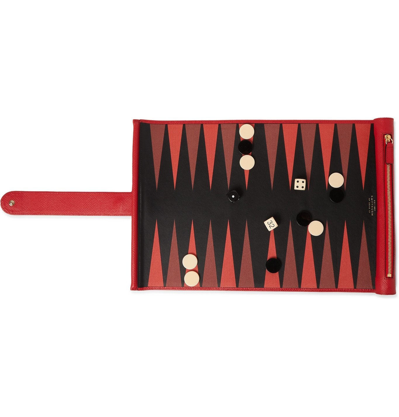 Smythson - Cross-Grain Leather Backgammon Set - Red