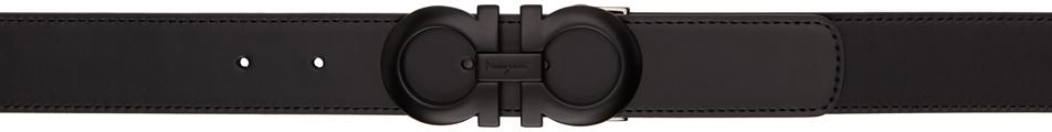 Photo: Salvatore Ferragamo Reversible Black Gancini Belt