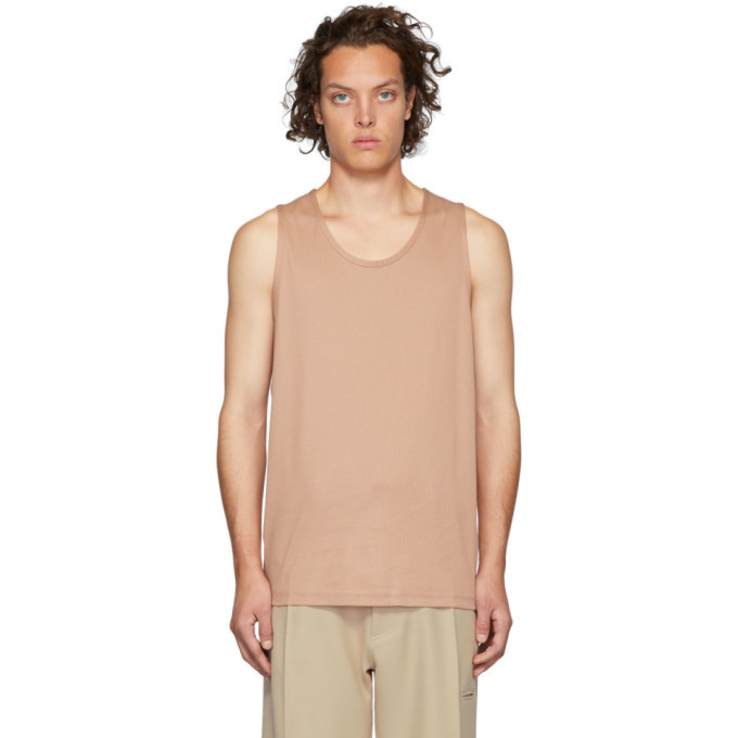 Photo: Lemaire Pink Sunspel Edition Jersey Tank Top