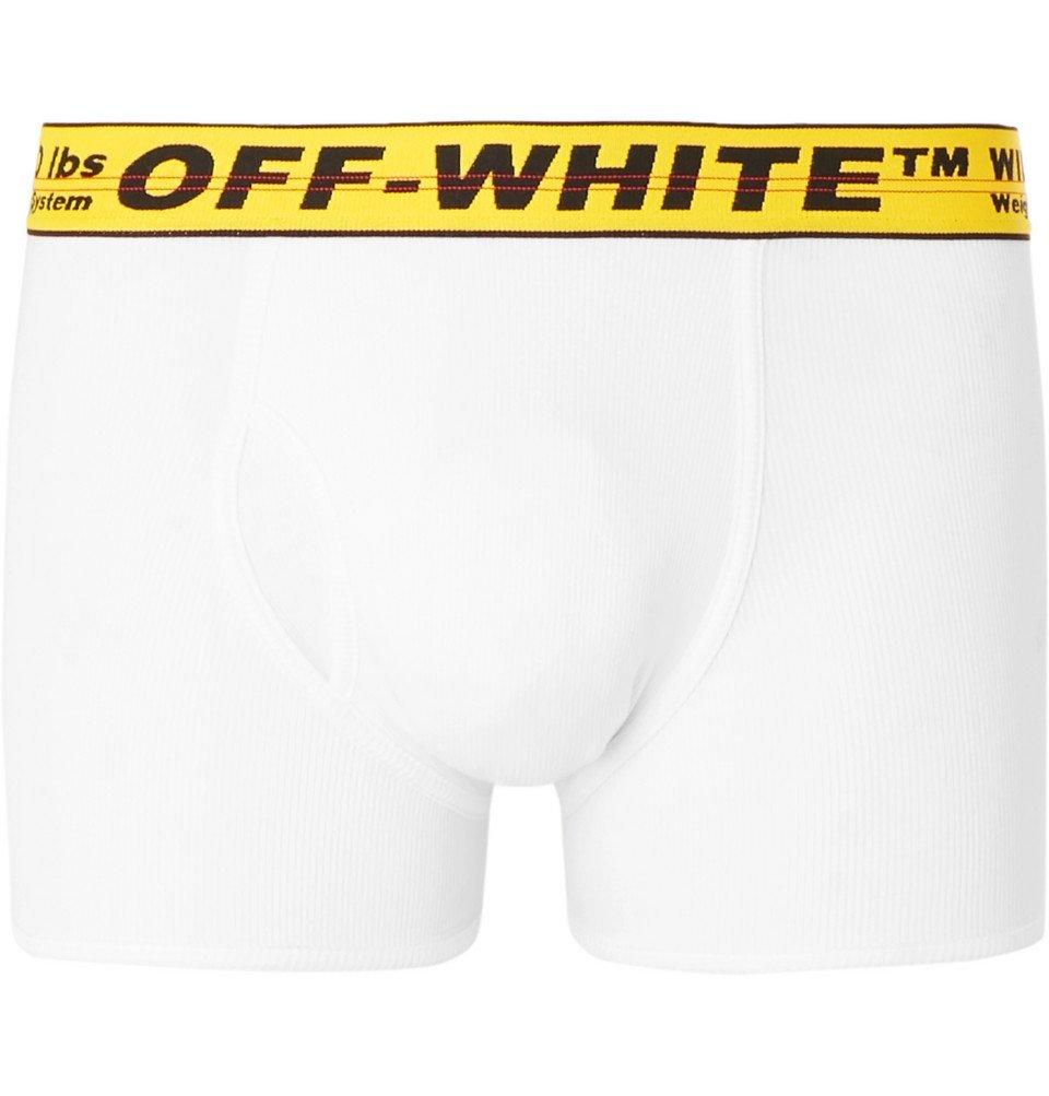 Photo: Off-White - Stretch-Cotton Boxer Briefs - White