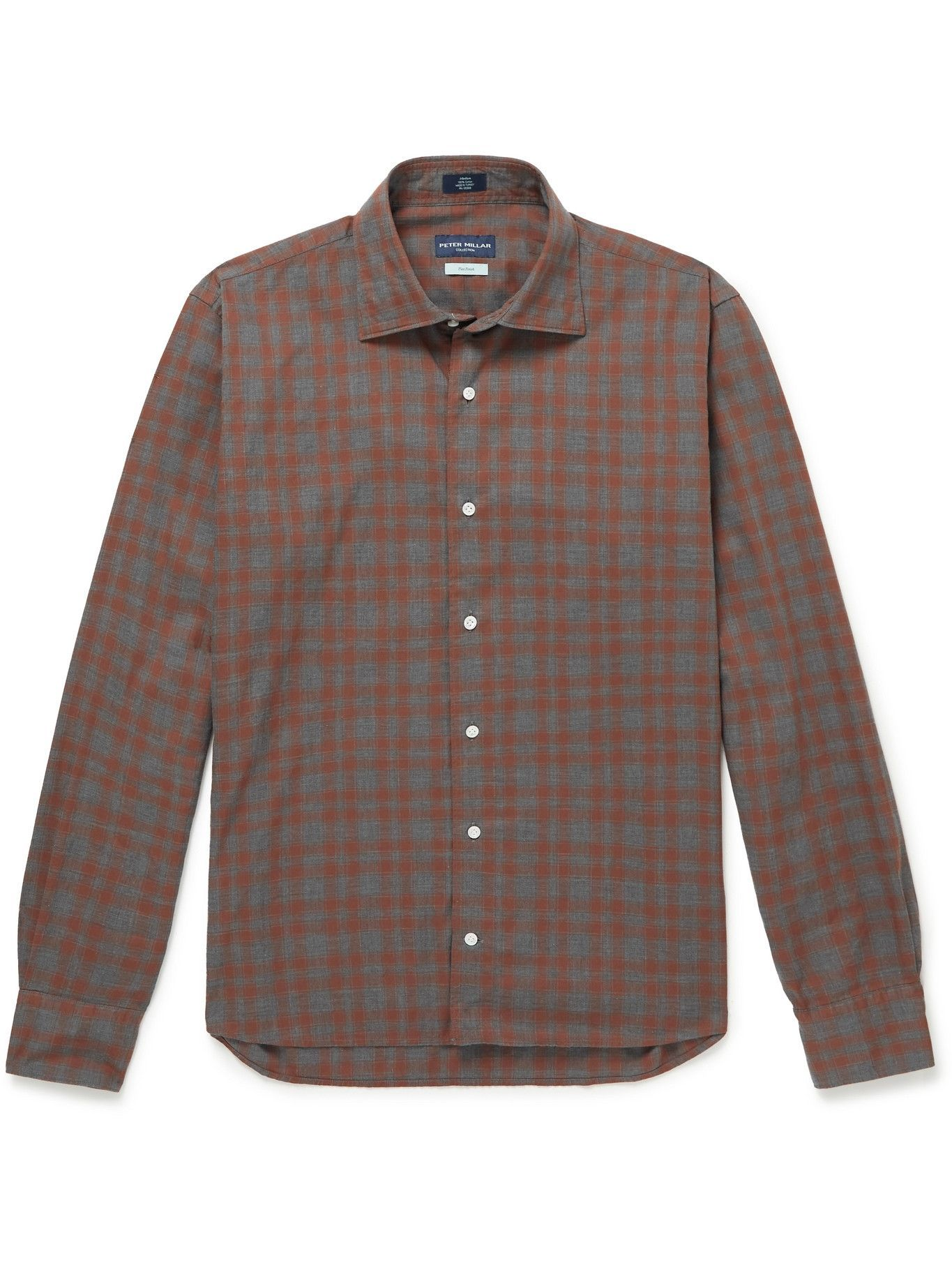 Photo: Peter Millar - Checked Cotton Shirt - Brown