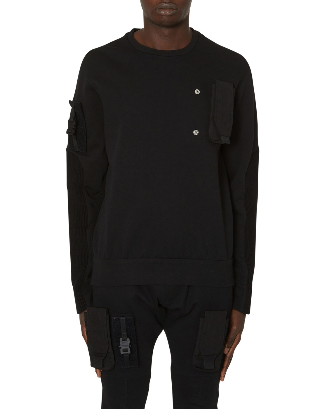 Photo: 1017 Alyx 9sm Ribbed Sweatshirt Black