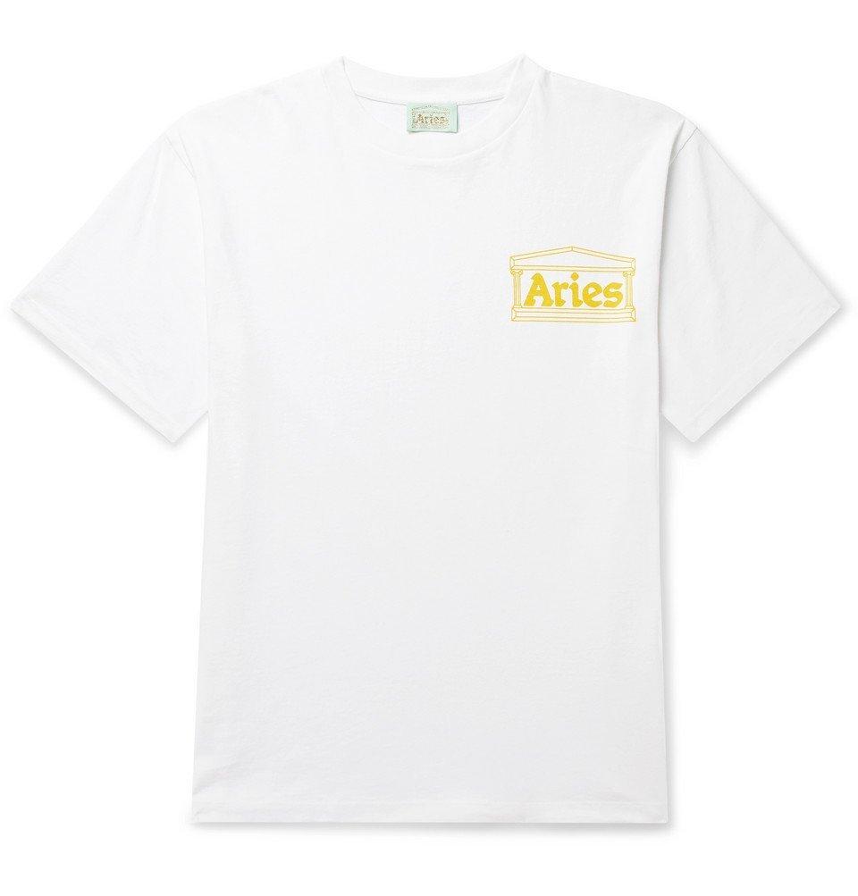 Aries - Logo-Print Cotton-Jersey T-Shirt - White