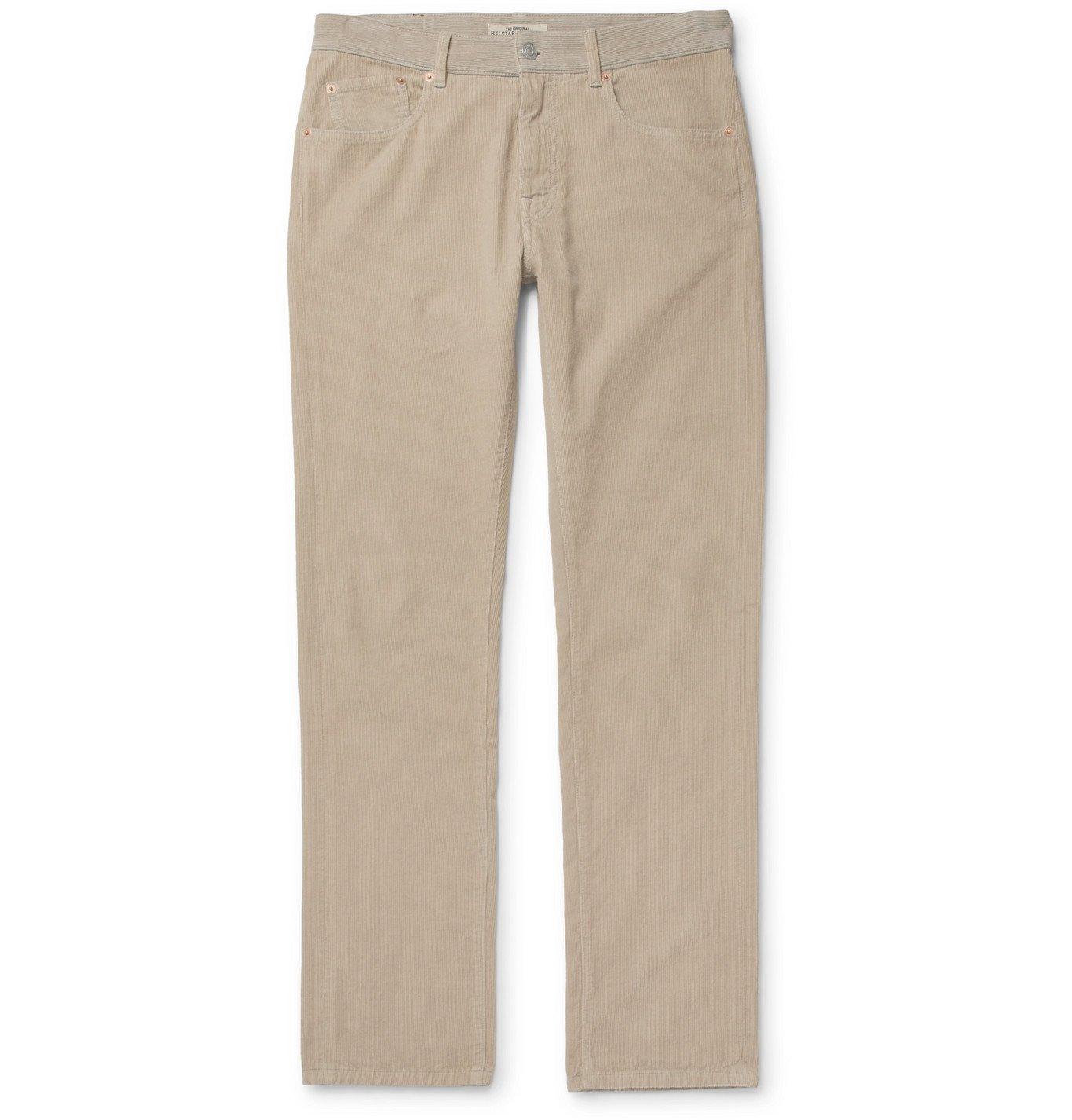 Photo: Belstaff - Longton Slim-Fit Cotton-Corduroy Trousers - Neutrals