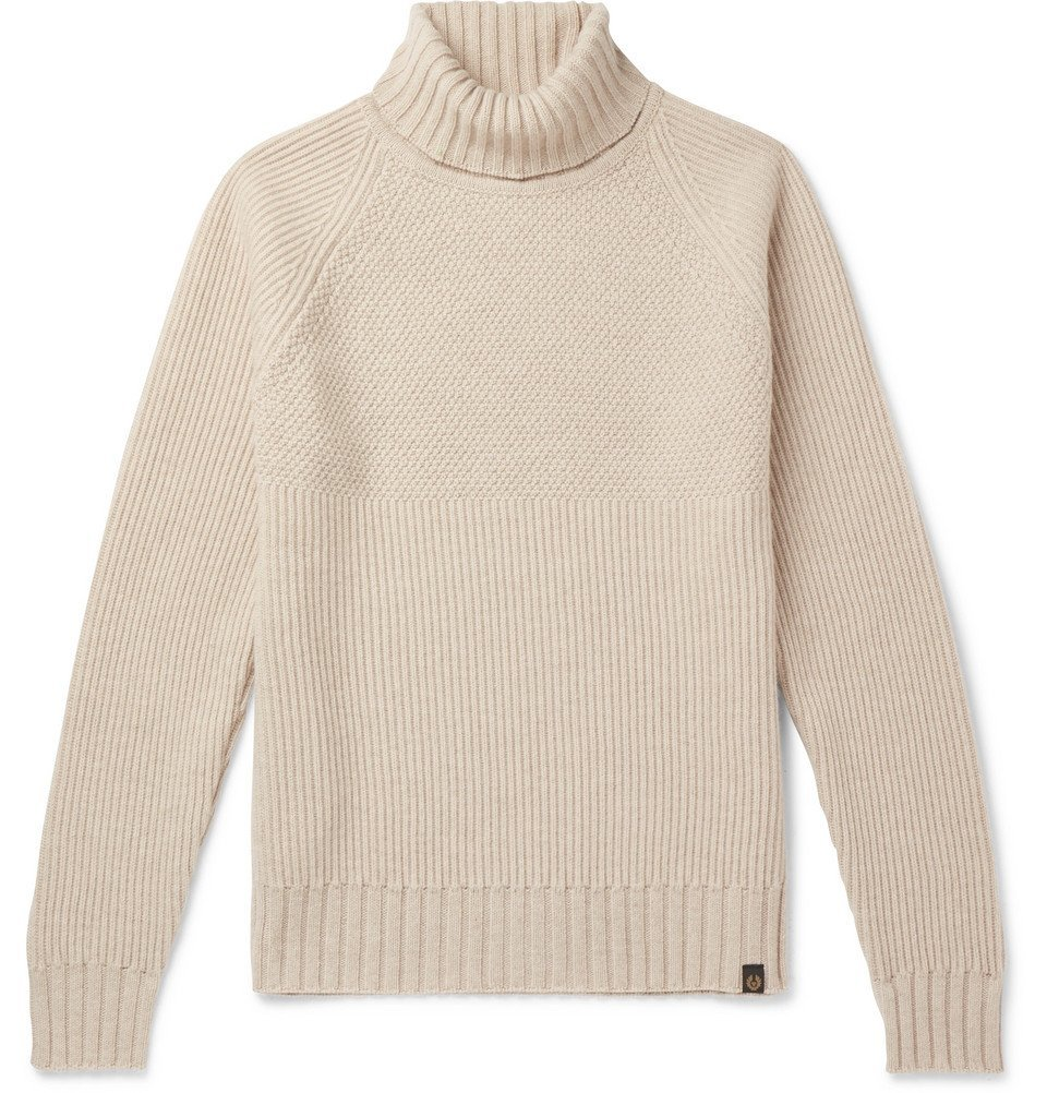 Belstaff - Marine Virgin Wool Rollneck Sweater - Cream