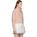3.1 Phillip Lim Pink Mohair Cropped Turtleneck
