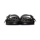 Sacai Black Slider Sandals