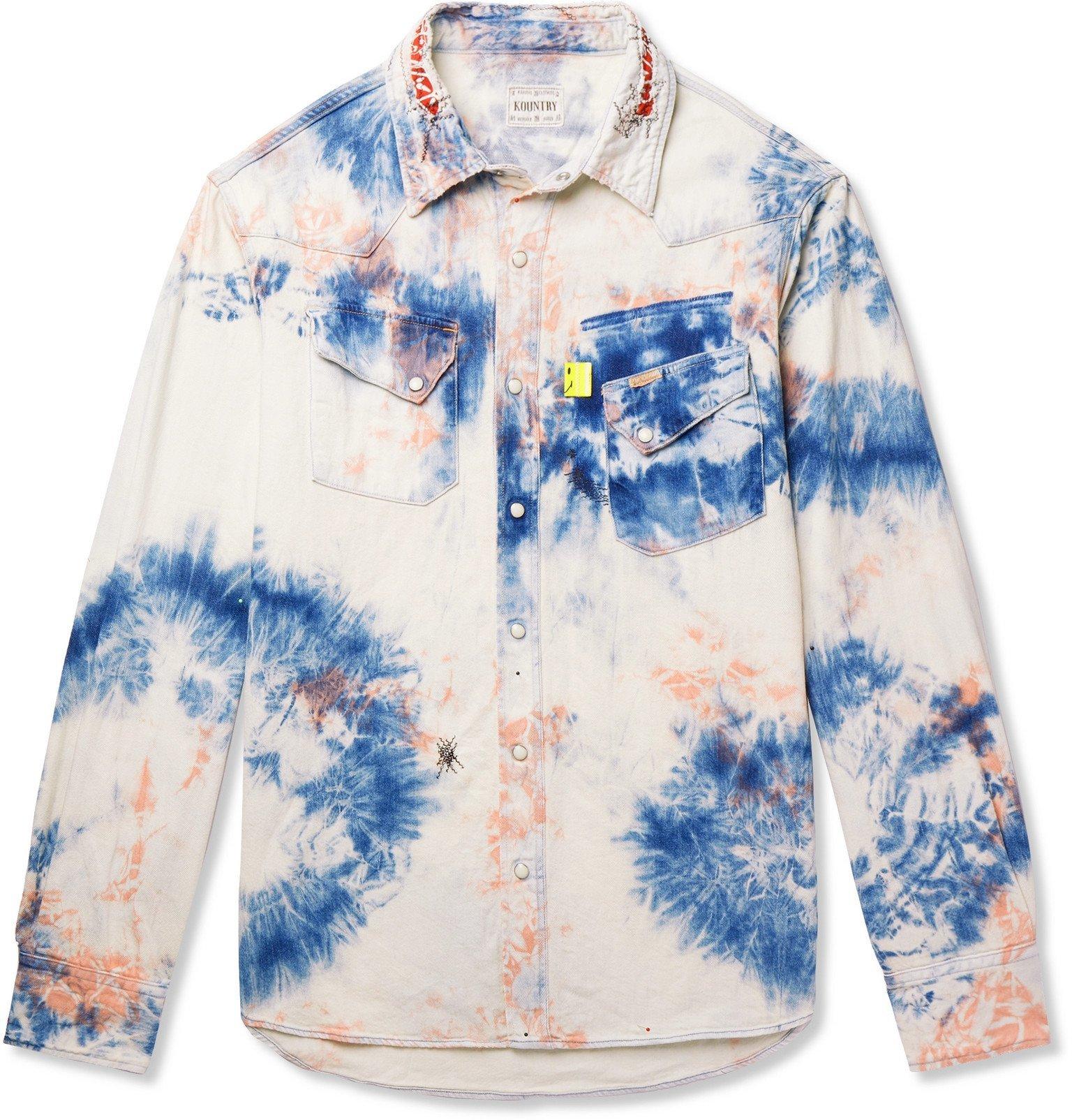 Photo: KAPITAL - Tie-Dyed Denim Shirt - Blue