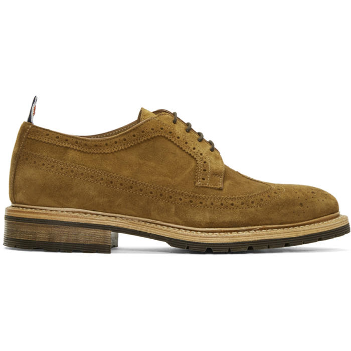 Photo: Thom Browne Brown Suede Classic Longwing Brogues