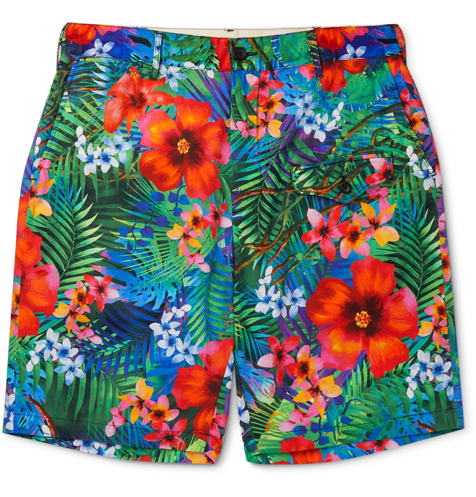 Photo: Engineered Garments - Floral-Print Cotton Shorts - Blue