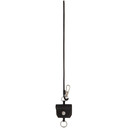 3.1 Phillip Lim Black Leather Airpod Keychain
