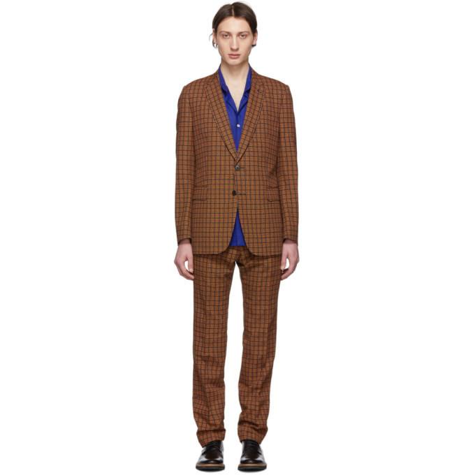 Photo: Dries Van Noten Black and Orange Slim Kline Suit
