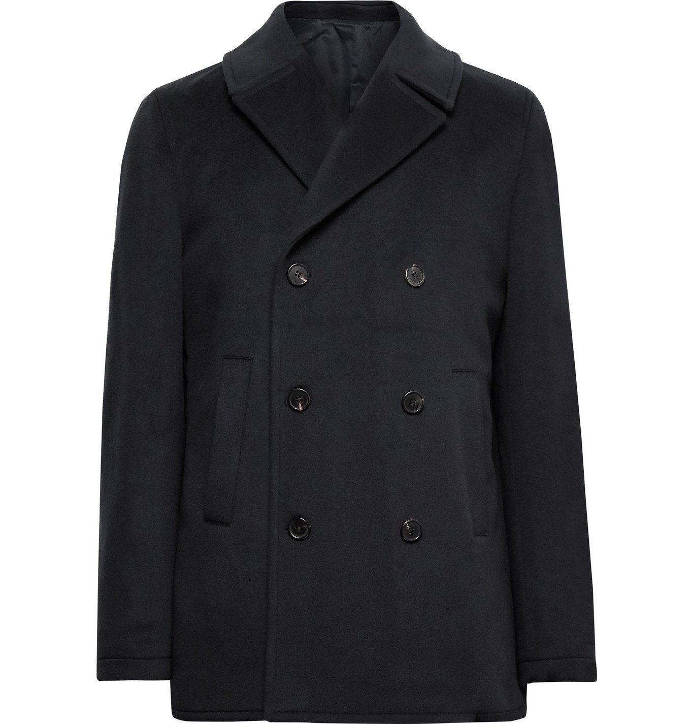 Photo: Altea - Double-Breasted Cashmere Peacoat - Blue