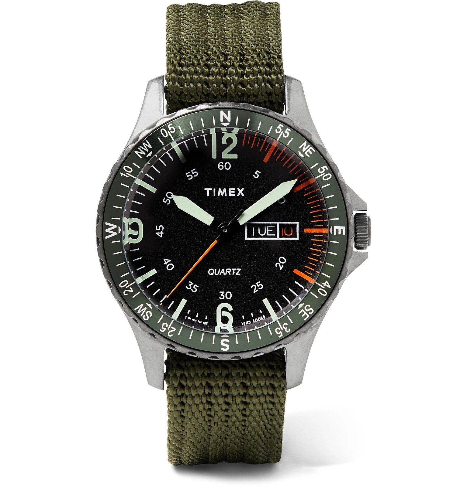 Photo: Timex - Navi Land 38mm Stainless Steel and Ballistic Nylon-Webbing Watch - Black