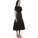 3.1 Phillip Lim Black Belted Shirred T-Shirt Dress