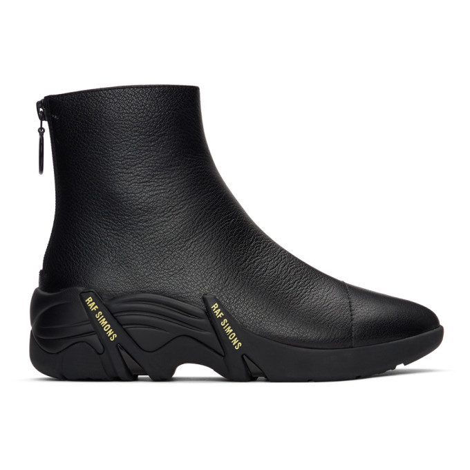Photo: Raf Simons Black Cyclon Zip-Up Boots
