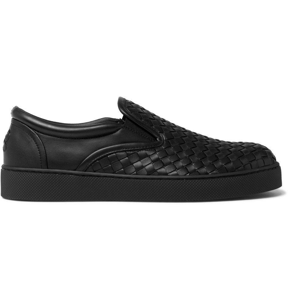 Bottega Veneta - Dodger Intrecciato Leather Slip-On Sneakers - Men - Black