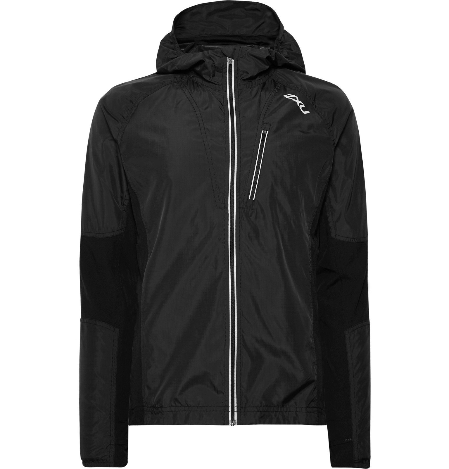 Photo: 2XU - XVENT Shell and Mesh Hooded Jacket - Black
