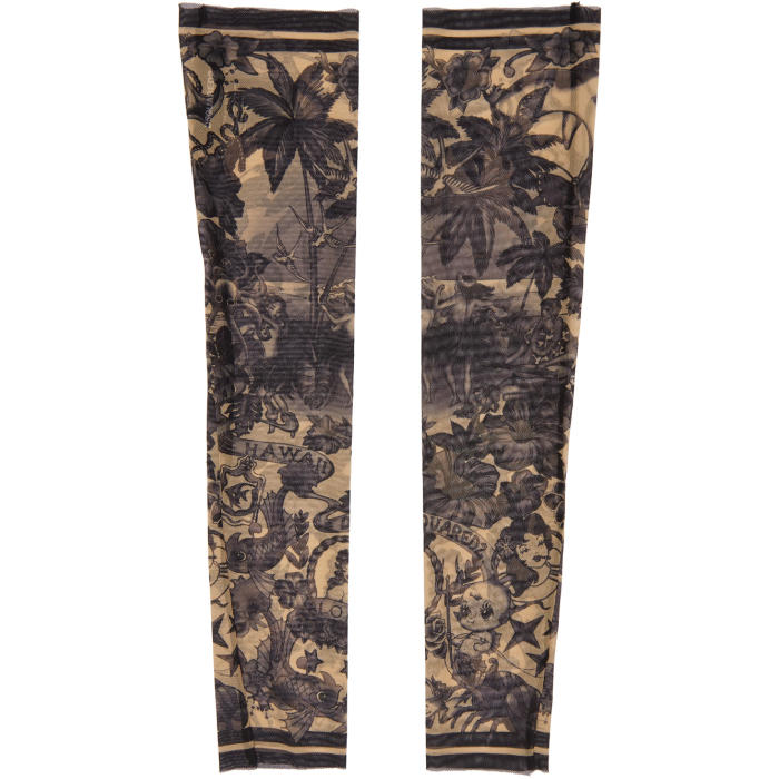 Photo: Dsquared2 Black and Beige Hawaiian Tattoo Sleeves
