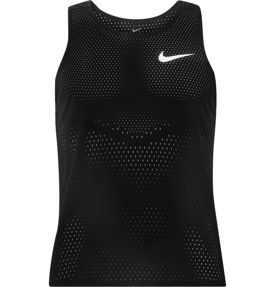 Photo: Nike Running - AeroSwift Mesh Tank Top - Black