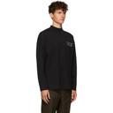 Martine Rose Black Jersey Mock Neck T-Shirt