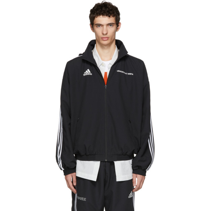 7d7338212 Gosha Rubchinskiy Black adidas Originals Edition Hooded Jacket