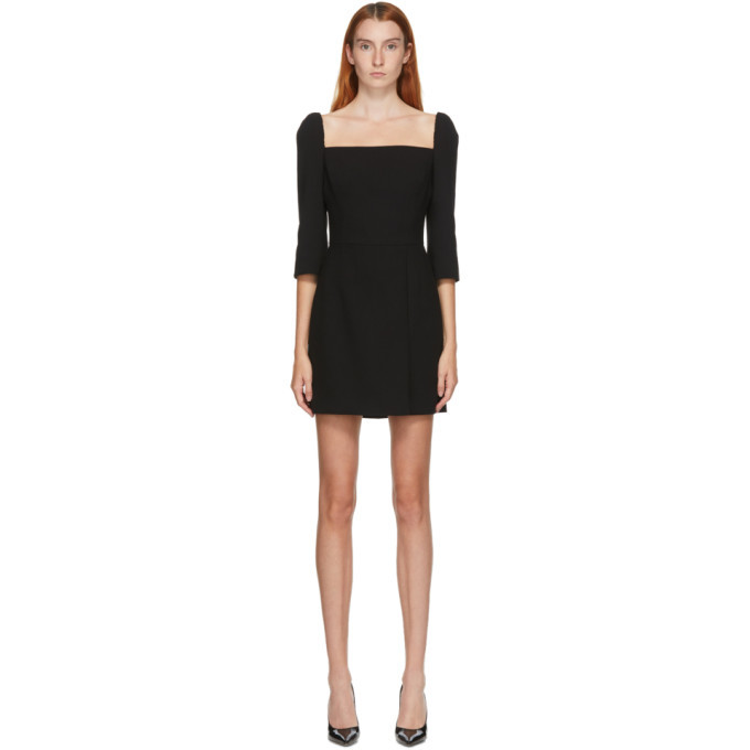 Photo: Dolce and Gabbana Black Crepe Square Neck Dress