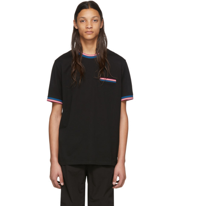 Photo: PS by Paul Smith Black Multi Stripe T-Shirt