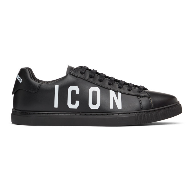 Photo: Dsquared2 Black and White Icon New Tennis Sneakers