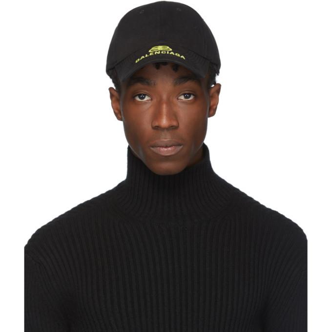 Photo: Balenciaga Black and Yellow New Logo Cap