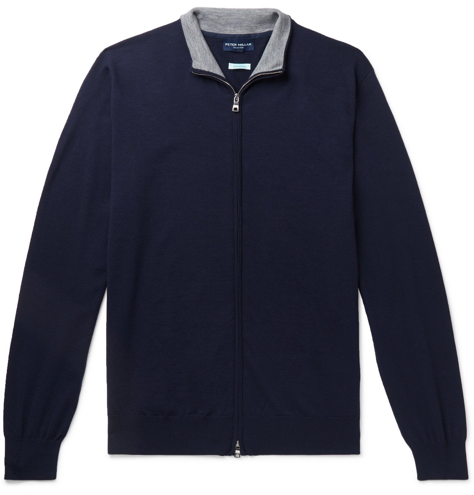 Photo: Peter Millar - Merino Wool-Blend Zip-Up Sweater - Blue