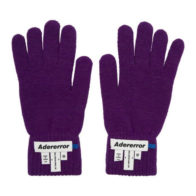 Photo: ADER error Purple Wrist Label Play Gloves