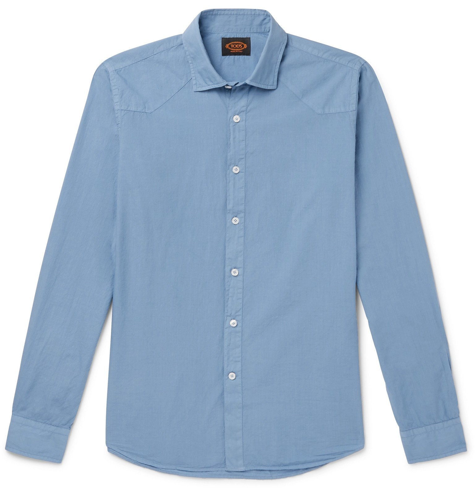 Photo: Tod's - Washed-Cotton Shirt - Blue