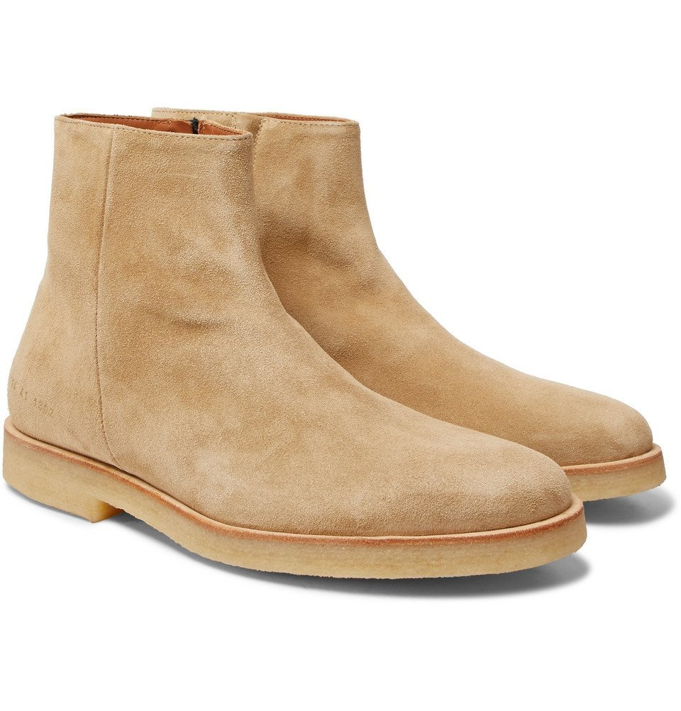 Photo: Common Projects - Suede Boots - Men - Sand