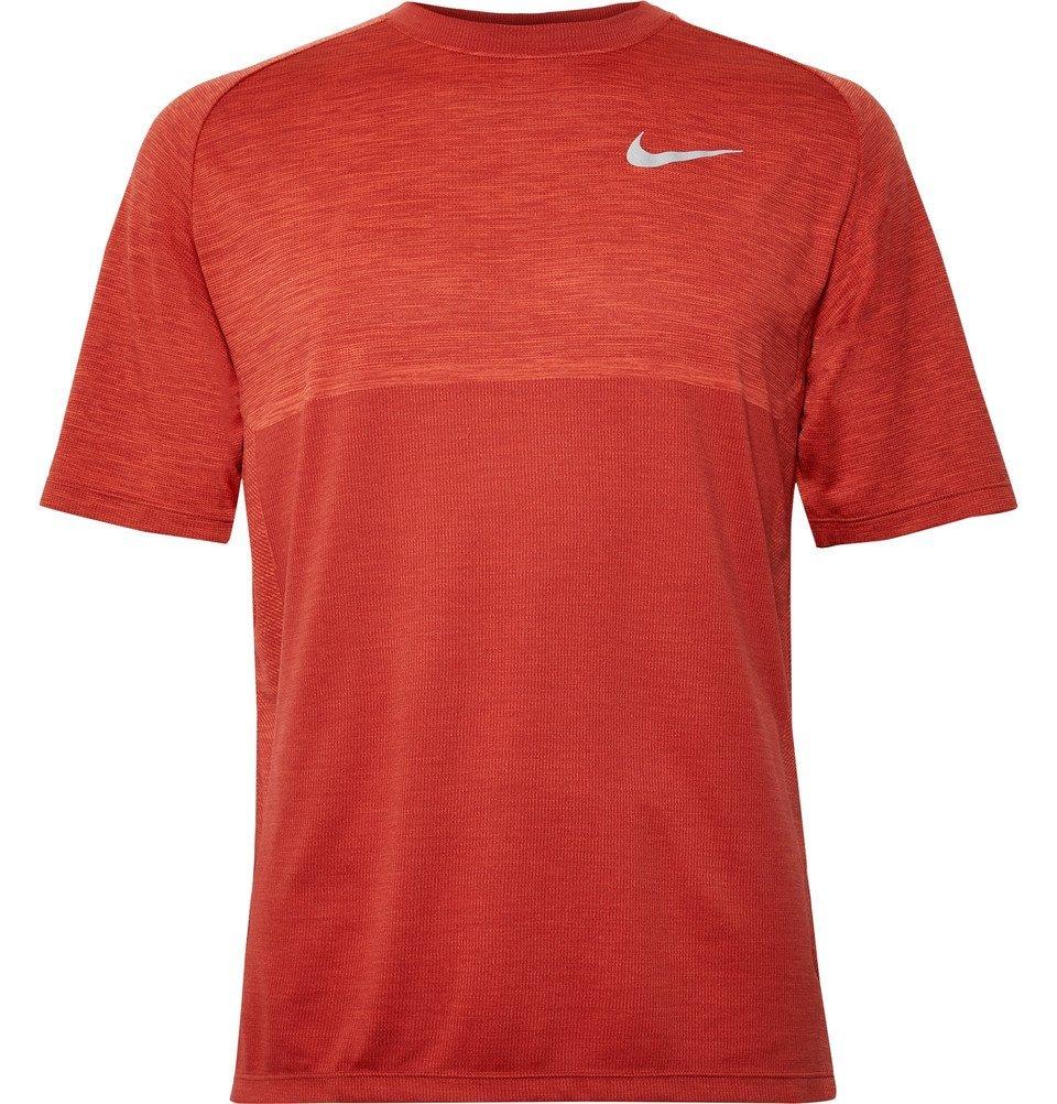 Nike Running - Medalist Mélange Dri-FIT T-Shirt - Men - Red