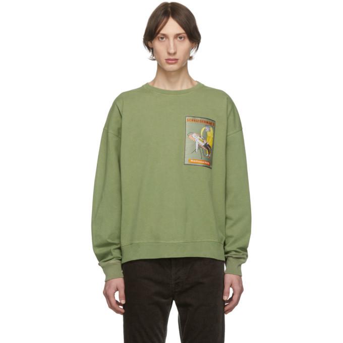Photo: Schnaydermans Green Oversized Well-Pressed Pete Sweatshirt
