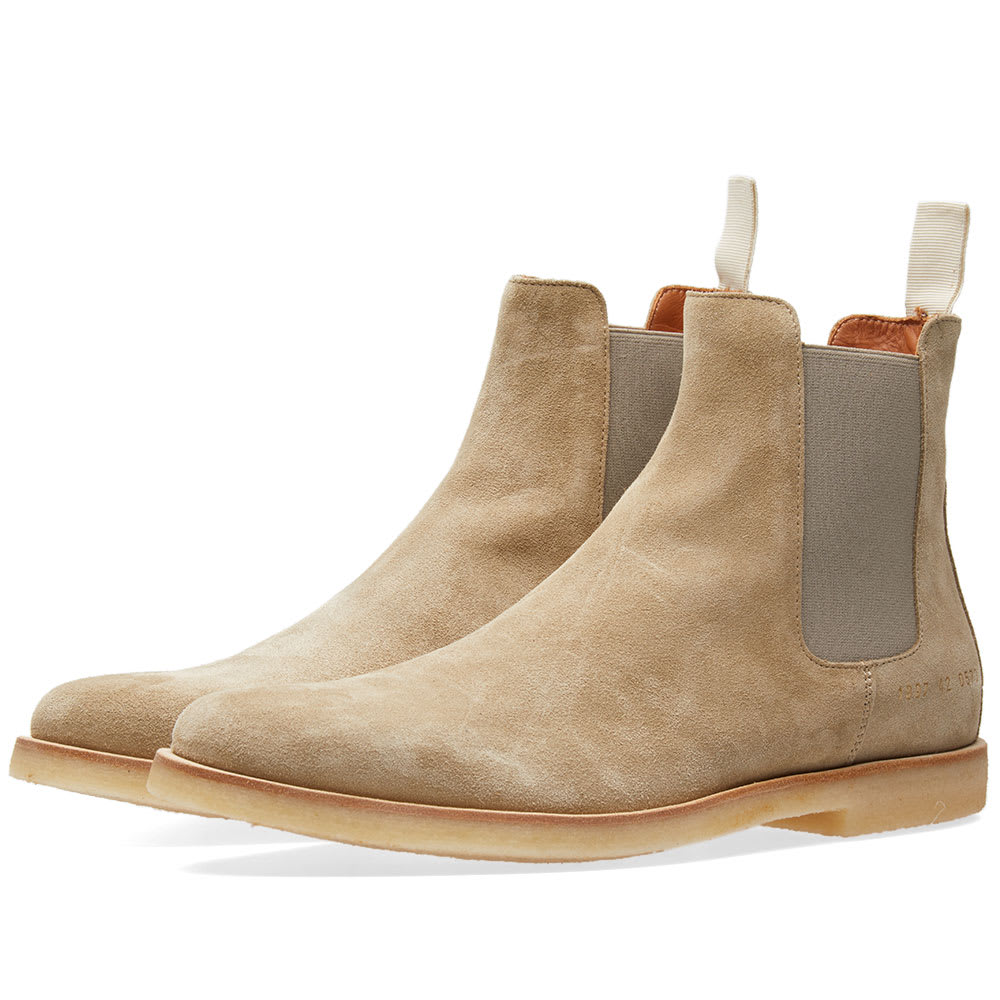 Photo: Common Projects Chelsea Boot Suede Grey