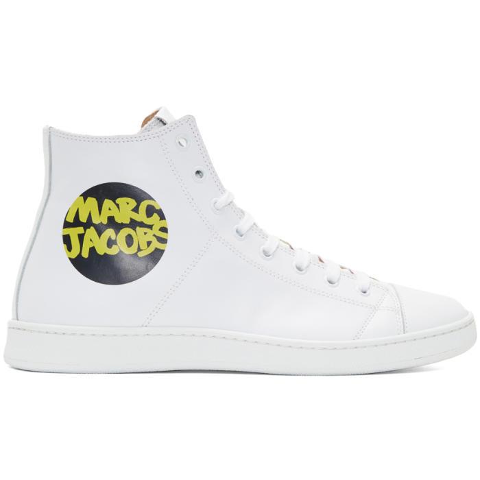 väldigt billigt några dagar bort någonsin populär Marc Jacobs White Logo High-Top Sneakers Marc Jacobs