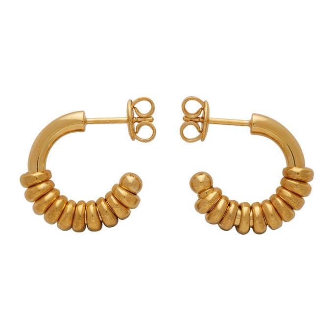 Photo: Bottega Veneta Gold Hoop Earrings