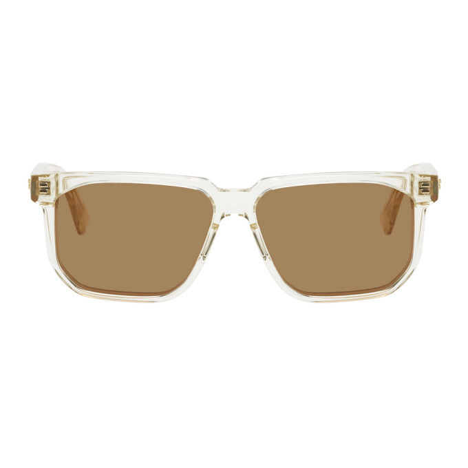 Photo: Bottega Veneta Transparent Square Sunglasses