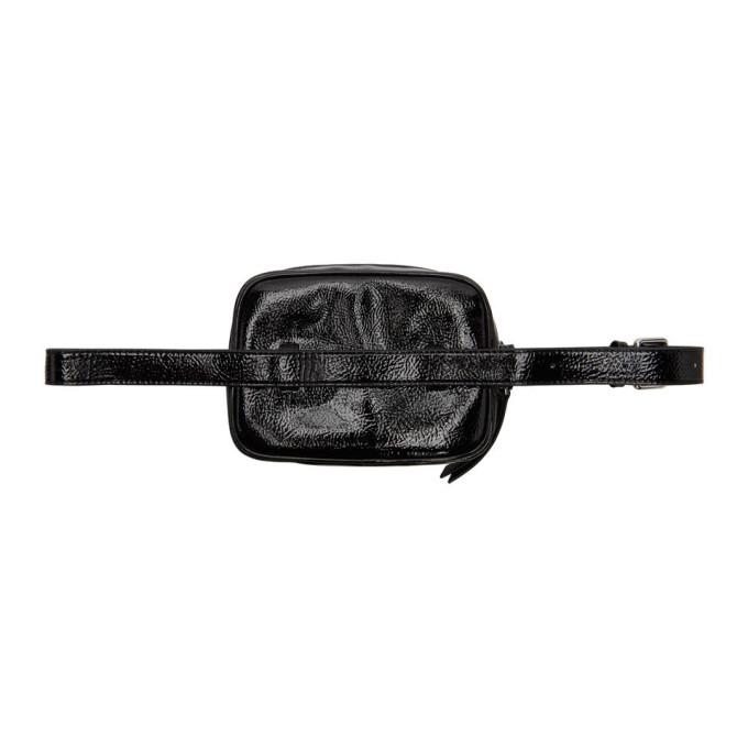 Versace Jeans Couture Black Logo Vinyl Belt Bag