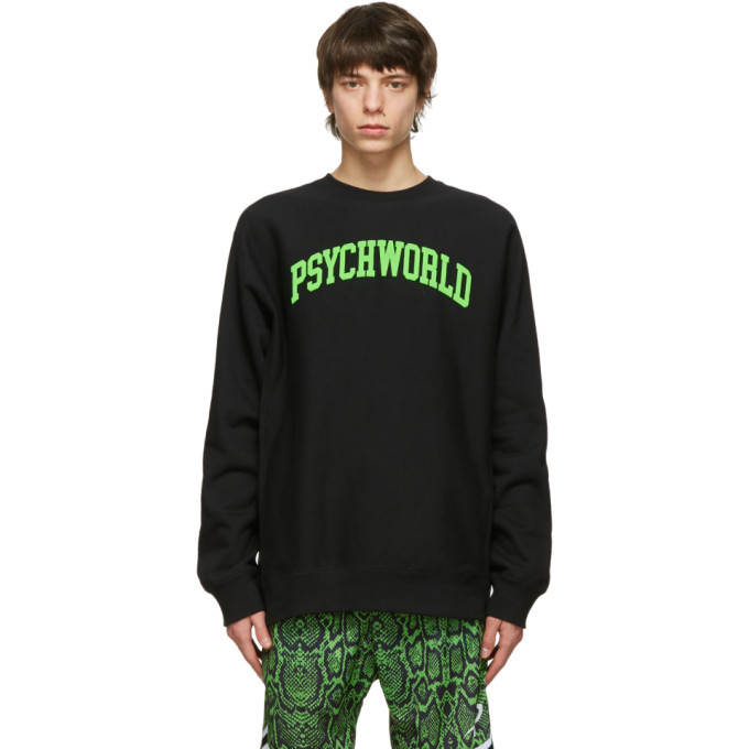 Photo: Psychworld Black and Green College Sweatshirt