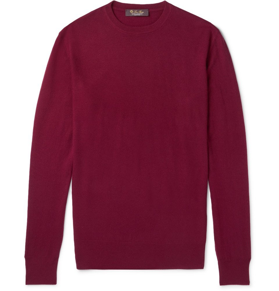 0e24a84ac Loro Piana - Slim-Fit Baby Cashmere Sweater - Men - Burgundy Loro Piana